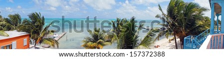 Panorama of a Beach View - stock photo