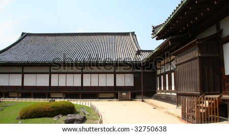 Panorama of ancient japanese architecture (Kyoto) - stock photo