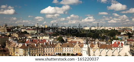 Panorama of beautiful polish city Lublin.