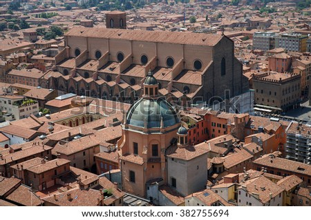 Panorama of Bologna, Emilia-Romagna, Italy. - stock photo