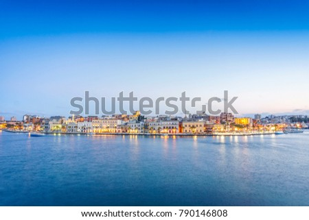 Panorama of Brindisi in the late afternoon, Puglia, Italy
