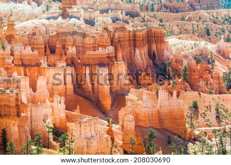 Panorama of Bryce Canyon National Park in Utah USA