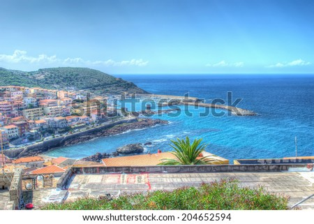 panorama of Castelsardo on a summer day