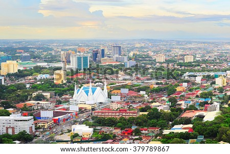 Panorama of Cebu city. Cebu is the Philippines second most significant metropolitan centre and main domestic shipping port.