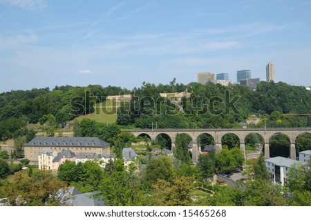 Panorama of city Luxembourg