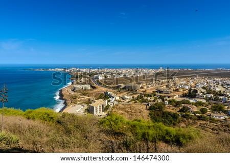 Panorama of Dakar, Senegal - stock photo