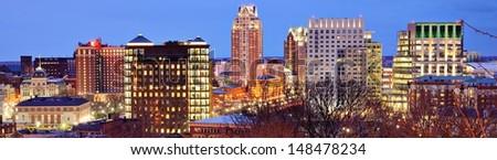 Panorama of downtown Providence, Rhode Island. - stock photo