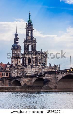panorama of Dresden, Germany. Cityscape. Skyline - stock photo
