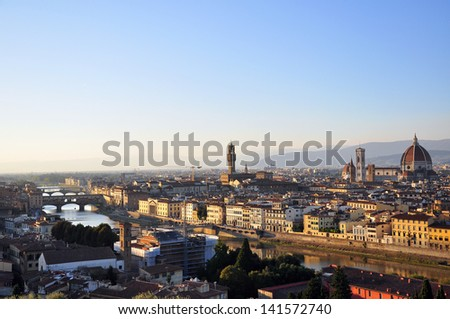 Panorama of Florence, Italy - stock photo