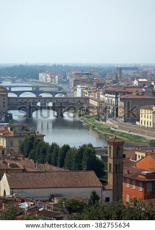 Panorama of Florence, Tuscany, Italy.
