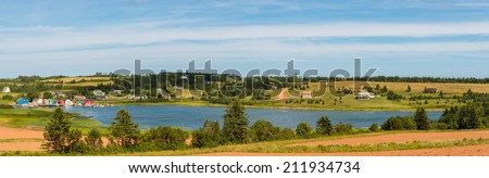 Panorama of French River (Prince Edward Island, Canada) - stock photo