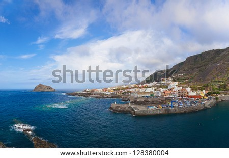 Panorama of Garachico in Tenerife island - Canary Spain