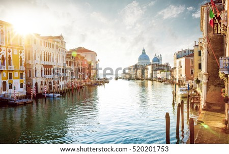 stock photo panorama of grand canal in venice italy 520201753 - Каталог — Фотообои «Венеция»