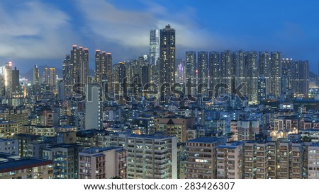 Panorama of Hong Kong City