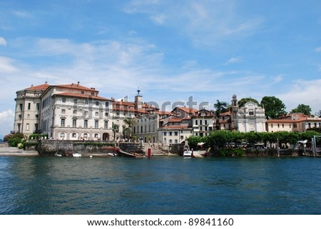 Panorama of Isola Bella, Borromean Island on Maggiore lake, Stresa, Italy - stock photo
