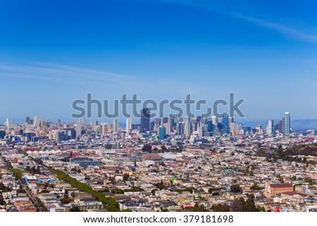 Panorama of lager San Francisco - stock photo