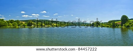 panorama of lake - stock photo