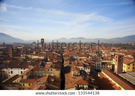 Panorama of Lucca. Tuscany. Italy.