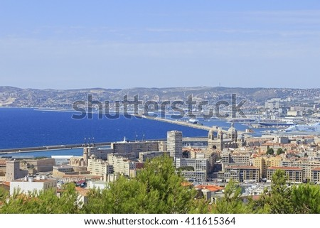 Panorama of Marseille, France