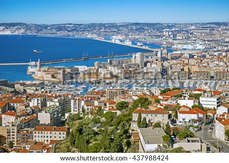 Panorama of Marseille, Provence, France - stock photo