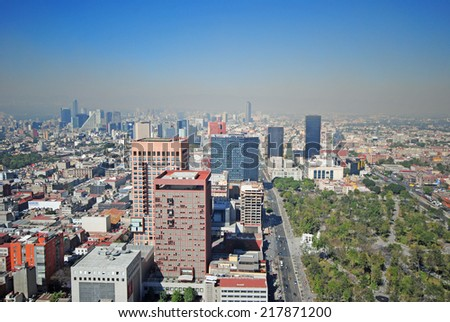 Panorama of Mexico City - stock photo