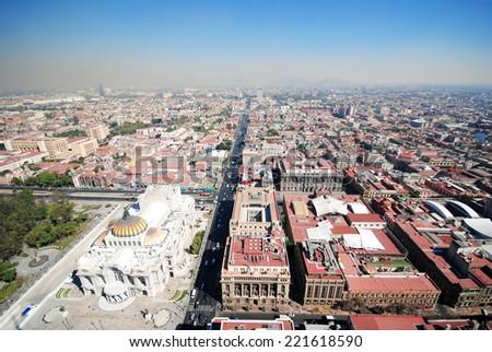 Panorama of Mexico City - stock photo