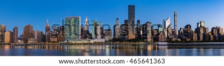Panorama of Midtown Manhattan during Dawn