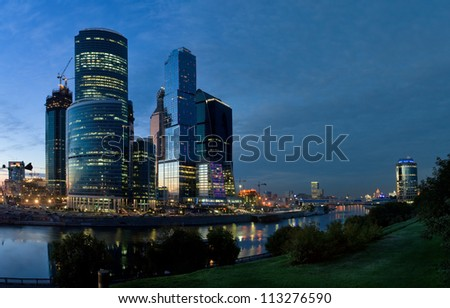Panorama of Moscow business centre