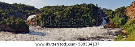 Panorama of Murchison Falls on the Victoria Nile, Uganda