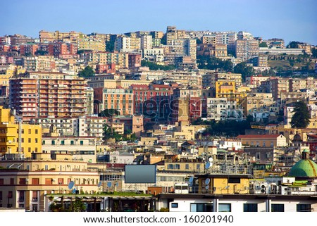 Panorama of Naples, Italy - stock photo