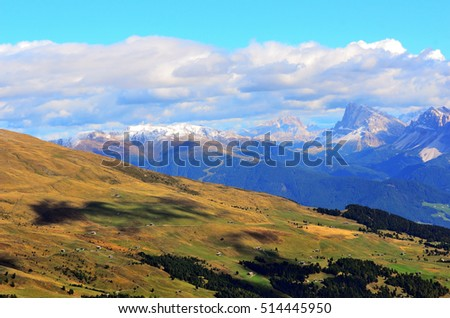 panorama of odle group dolomites