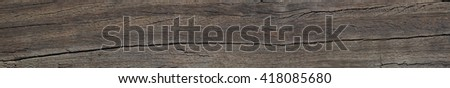 Panorama of old wooden surface - stock photo