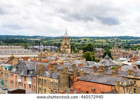 Panorama of Oxford, England. Oxford is known as the home of the University of Oxford
