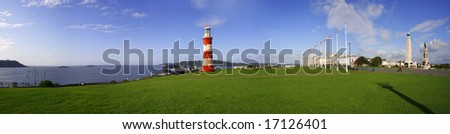 panorama of Plymouth, Devon, UK - stock photo