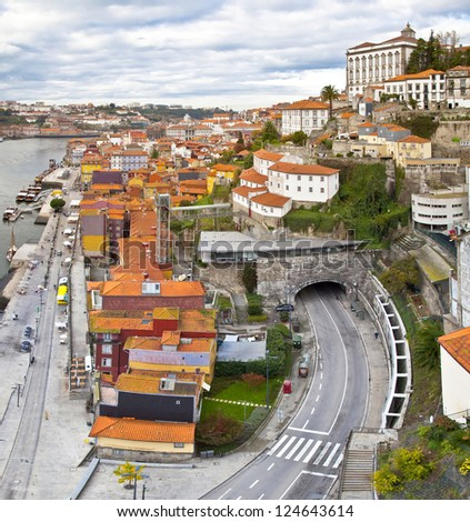 Panorama of Porto, Portugal. Evening time. - stock photo