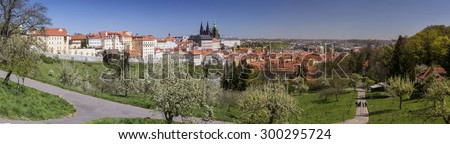 Panorama of Prague from Petrin hill