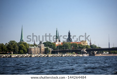 Panorama of Riga old city