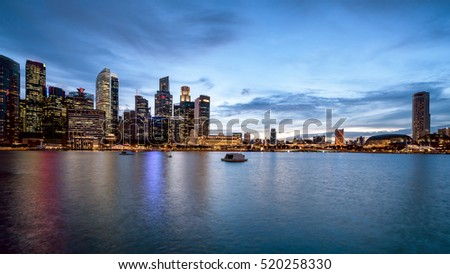 panorama of Singapore city skyline