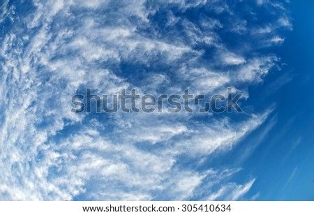 Panorama of sky with clouds. Sky with clouds. - stock photo