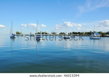 Panorama of St Pete Pier in St Petersburg, Florida - stock photo
