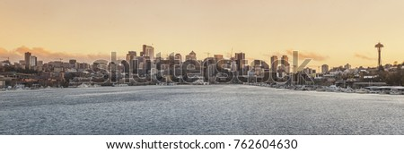 panorama of the big city Seattle