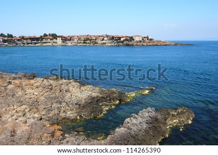 Panorama of the Bulgarian waterfront - stock photo