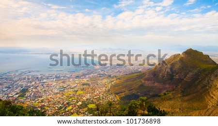 Panorama of the city (Cape Town, South Africa) - stock photo