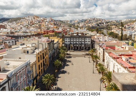 Panorama of the city of Las Palmas de Gran Canaria. The Canary Islands. Spain - stock photo