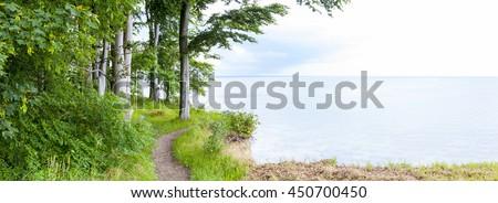 Panorama of the coastline near Travemünde in Schleswig-Holstein, Germany - stock photo