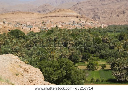 Panorama of the Dades valley, Morocco. - stock photo