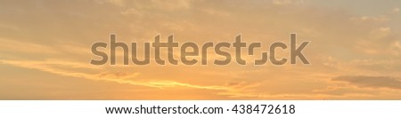 panorama of the sky at sunset in summer - stock photo