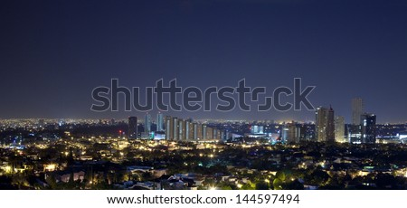 Panorama of the skyline guadalajra - stock photo