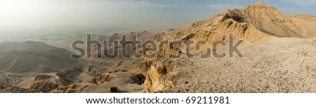 Panorama of the Valley of Kings. Luxor, Egypt - stock photo