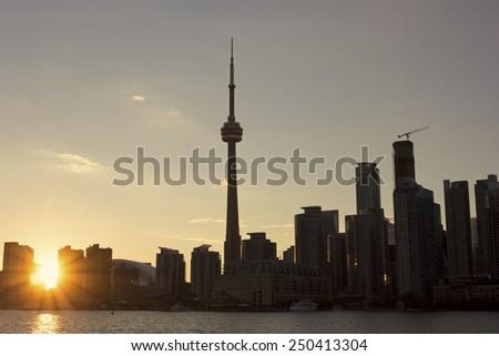 Panorama of Toronto in Canada - stock photo